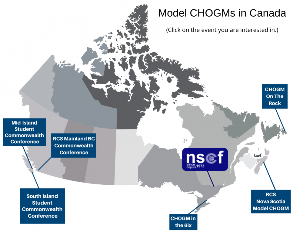 Model CHOGMs in Canada; click on the event you are interested in.